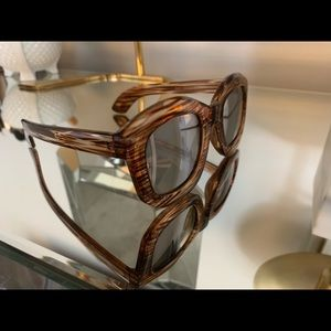 Anthropologie sunglasses brown with silver lens